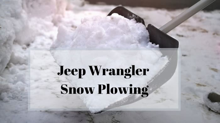 a jeep wrangler snow plowing